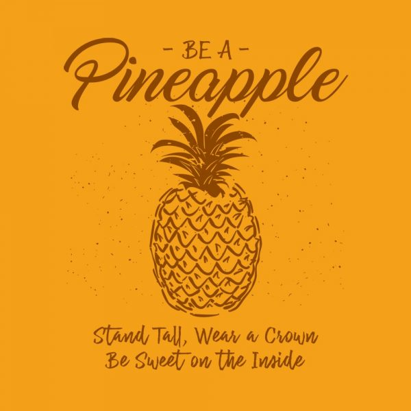 Be A Pineapple Design Gold