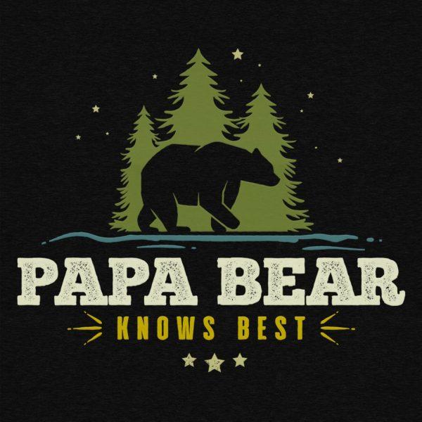 Papa Bear Knows Best 12x16 Detail