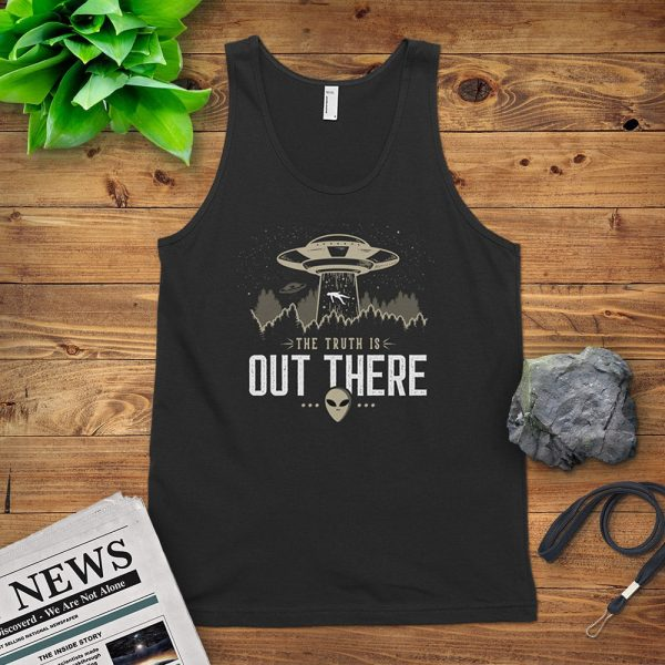 The Truth Is Out There Flat Lay Mockup Tank Top