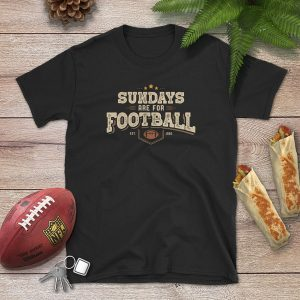 Sundays Are For Football Flat Lay Mockup Tshirt
