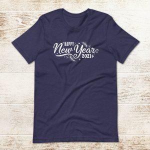 Happy New Year 2021 Flat Lay Mockup Tshirt