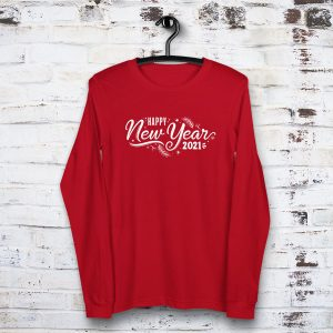 Happy New Year 2021 Hanger Mockup Long Sleeve