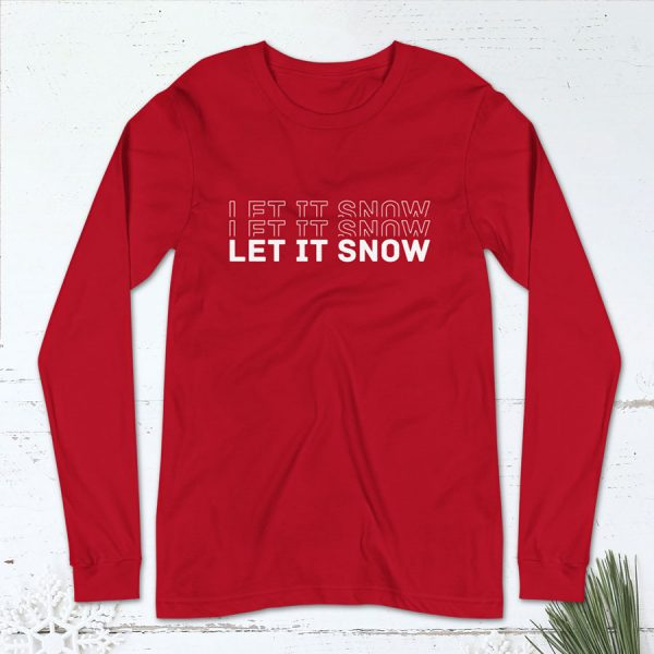 Let It Snow Flat Lay Mockup Long Sleeve
