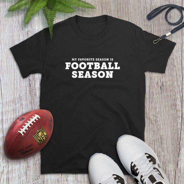 Football Is My Favorite Season Modern Flat Lay Tshirt
