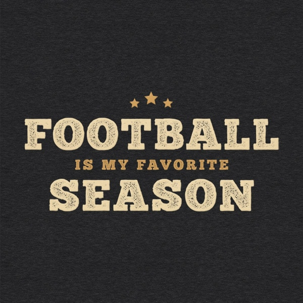 Football Is My Favorite Season Vintage Detail