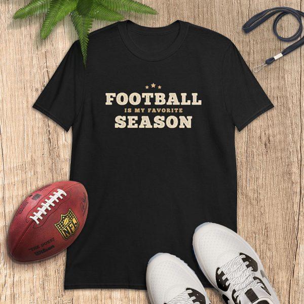 Football Is My Favorite Season Vintage Flat Lay Tshirt
