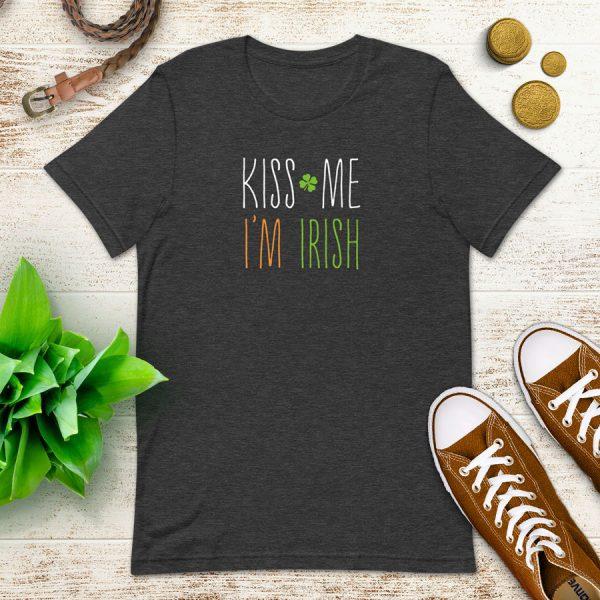 Kiss Me I'm Irish Flat Lay Mockup Tshirt