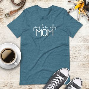 Proud To Be Called Mom Flat Lay Mockup Tshirt