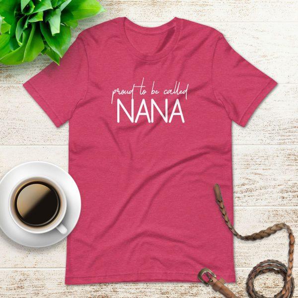 Proud To Be Called Nana Flat Lay Mockup Tshirt