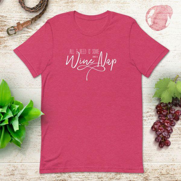 Wine And A Nap Flat Lay Mockup Tshirt
