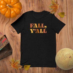 Fall Yall Flat Lay Mockup Tshirt