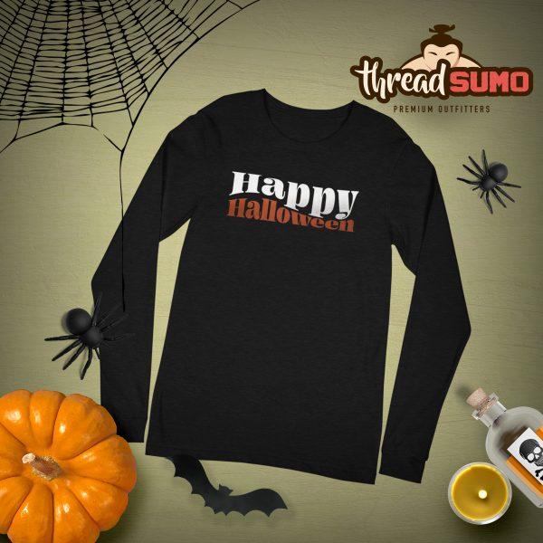 Happy Halloween Long Sleeve Flat Mockup scaled