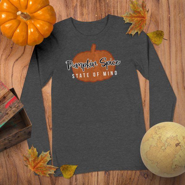 Pumpkin Spice Long sleeve Flat Lay Mockup Tshirt