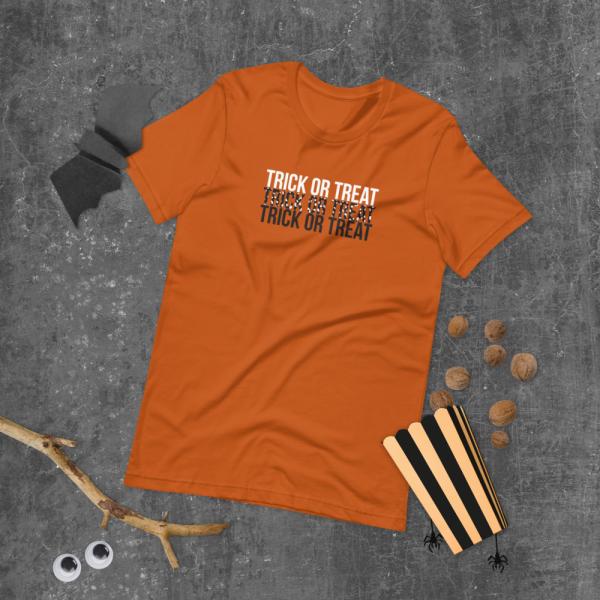 Trick or Treat unisex staple t shirt autumn front 610308c7d147f
