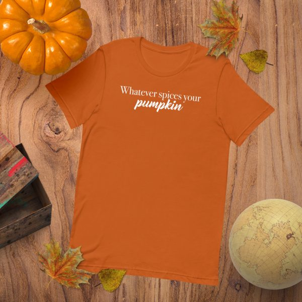 Whatever Spices Your Pumpkin Flat Lay Mockup Tshirt