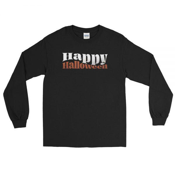 mens long sleeve shirt black front 610c59acd9db0