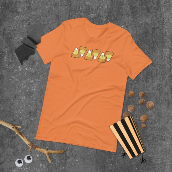 unisex staple t shirt burnt orange front 610c51551fb04