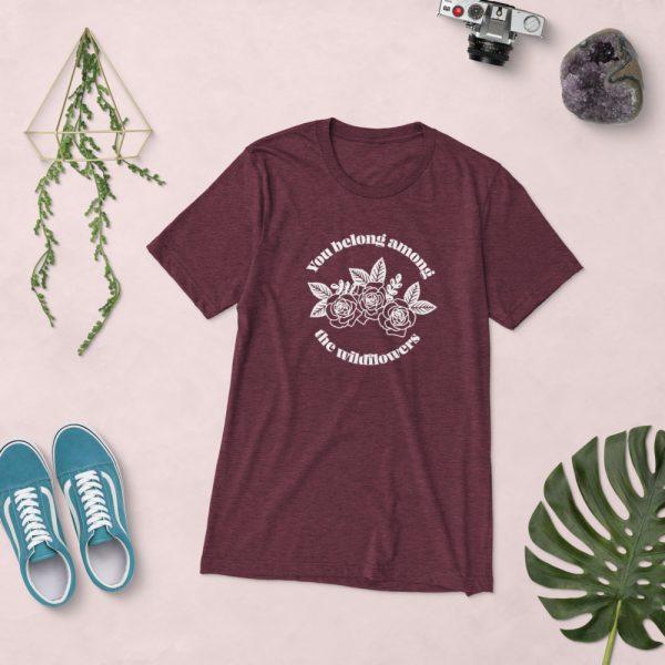 unisex tri blend t shirt maroon triblend front 610d5af8f05aa