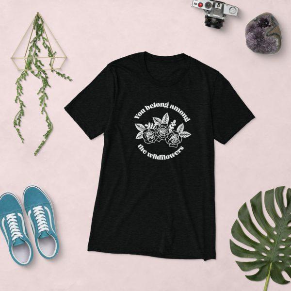 unisex tri blend t shirt solid black triblend front 610d5af8f0231